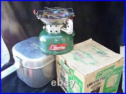 Coleman 1962 Sportster Stove & Kit #502-800 Heat Drum #502-952 Funnel Tested A+