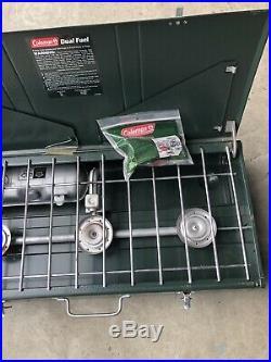 Coleman 3-burner powerhouse dual fuel stove Model 428