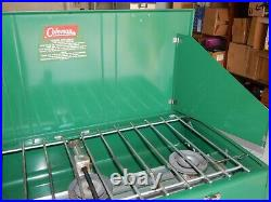 Coleman 426D Vintage 3 Burner Gas Stove Camping Grill withbox 1966 9/66