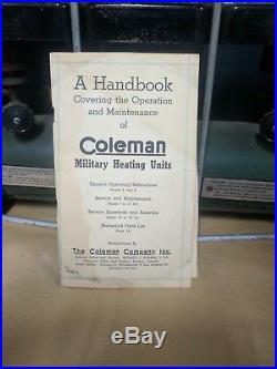 Coleman 523 US Military Liquid Fuel Stove