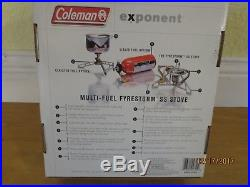 Coleman Exponent Fyrestorm Stainless Steel SS Multi-Fuel Stove