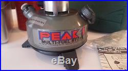 Coleman Peak 1 Multi-Fuel Backpack Stove Model 550B749 withCase New