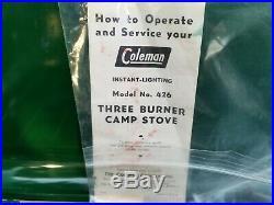Coleman antique 3 burner 426 stove