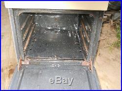 DIXIE Yellow Porcelain Vintage 4 Burner Gas propane Range Stove Oven RV Camper