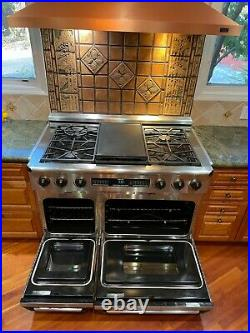 Dacor 48 inch dual fuel pro stainless steel range in excellent condition
