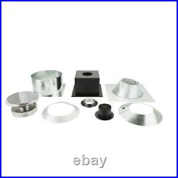 DuraVent 6 in. Triple-Wall Basic Through-The-Ceiling Chimney Stove Pipe Vent Kit