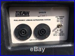 EAW LA325 Pair Full range 3 Way Speakers Working Biamp PA Audio Pro Grade