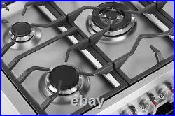 Empava 36 Slide-In Gas Range Single Oven Convection Fan with 5 Burner Cooktops