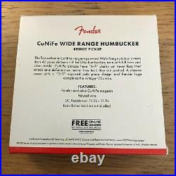 Fender CuNiFe Wide Range Bridge Humbucker American Original'70s Tele Pickup USA