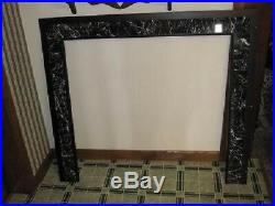 Fireplace Wood Pellet Stove Italain Marble Trim Wall Surround 46 X 40 1/2