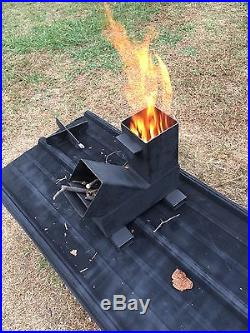 Gravity Feed Rocket Stove by Outback Fabrications