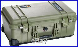 Green Pelican 1510 case includes 6 pistol handgun gun Range foam + nameplate