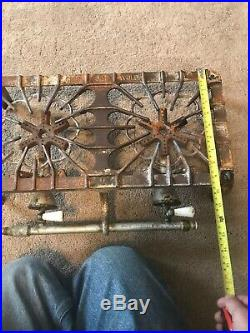Griswold 32 Cast Iron Two Burner Tabletop Gas Stove Hot Plate 1701 USA
