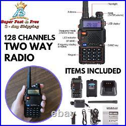 Handheld Two Way Radio Scanner Police Fire Transceiver Walkie Talkie Long Range