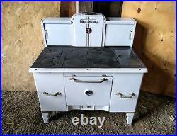 Home Comfort 1864 Enamel Cast Iron Wood Burning Oven Range Stovetop RARE