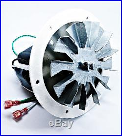 Jamestown Pellet Stove Combustion Exhaust Blower Motor Fan Kit with 4 3/4 Paddle