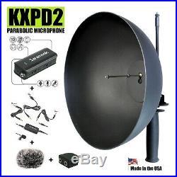 KXPD2 Parabolic Microphone, Pro, Rugged, Long Range 1,200' + Mic/ Amp/ 2ch Mixer