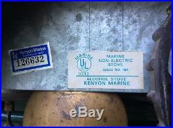 Kenyon Marine Boat Alcohol Stove Dual Burner model 164