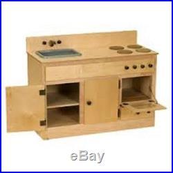 Kitchen Play Set REFRIGERATOR HUTCH SINK STOVE Amish Handmade OAK FINISH USA