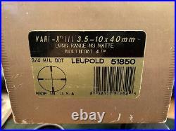 Leupold Mark 4 Precursor VARI-X III 3.5-10x40mm Long Range Tactical M3 51850