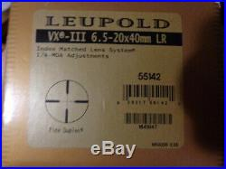 Leupold VX-3 6.5-20x40 LR Long Range Scope 30mm Side Focus Varmint Hunter 55142