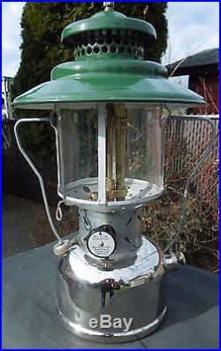 MID Century Coleman Nickel Classic Combo Model 228d Lantern & Model 500 Stove