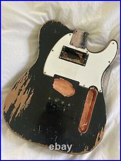 MJT relic aged tele body Swamp Ash Black Humbucker Fender Keith Wide Range Rare