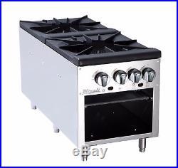 Migali C-SPS-2-18 2 Burner Stock Pot Stove 18 Wide
