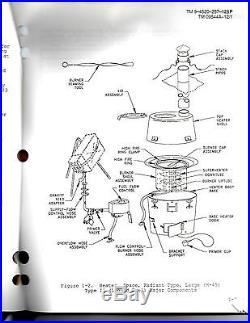 Military Tent Stove H-45 Liquid Fuel Burner Variety Unused 4520-01-329-3451