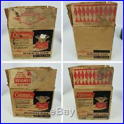 Museum Quality Vintage Very Scarce Rare Coleman 501 Stove with Box
