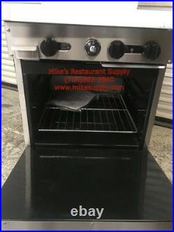 NEW 24 Gas Range 2 Open Burner & 12 Griddle Gas Oven Base Stratus SR-2G12 7225