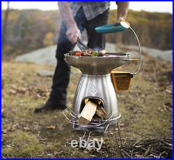 NEW BioLite BaseCamp Grill Wood Stove Light Thermoelectric Generator Camping