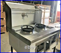 NEW Commercial 2 Hole Wok Range Chinese Cuisine Restaurant NSF Certified