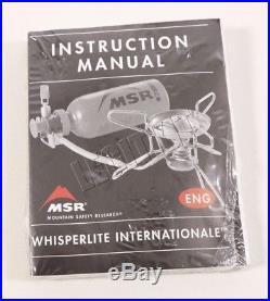 NEW MSR Whisperlite Internationale Multi-Fuel Backpacking Camping Stove 119308-1