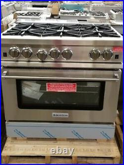 NEW OUT OF BOX BLUESTAR OPEN BURNER 36 GAS RANGE WithCONVECTION RCS366BV2