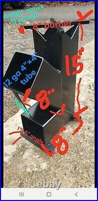 NewDOBLE COMBUSTIONRocket Stove camping Stove wood burning portable Stove
