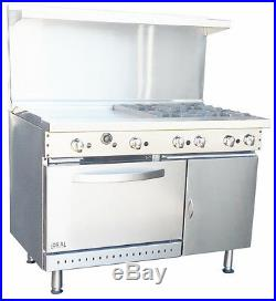 New. Commercial 48 Range with 2 Burners & 36 Griddle. Made in USA by Ideal