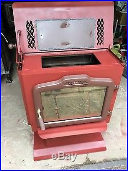 Newly Refinished Harman Exception TLC-200 Wood stove in Adobe Red