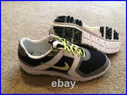 Nike Golf Air Range WP Golf Shoes Black/Cyber/White Size 10.5 NEW DEAD STOCK TW