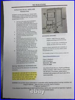 NuWay Nu-Way propane stove ice Fish house deer stand furnace heater m4000 28,000