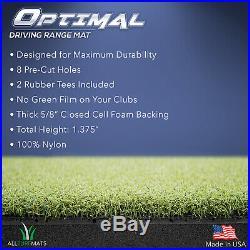 OPTIMAL Driving Range Golf Hitting Mat 5 x 5