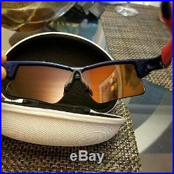 Oakley Radar Range Team USA Sunglasses, Blue/ Fire Iridium, 24-302