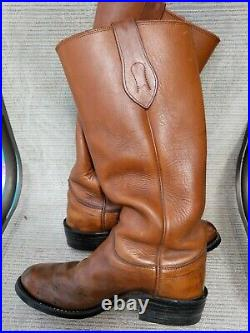 Olathe Stove Pipe Mens 17' Tall Leather Cowboy, Work, Motorcycle Boots Sz 7.5 Ee