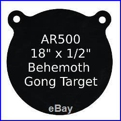 One AR500 Steel Target Gong 1/2 x 18 Painted Black Shooting Practice Range