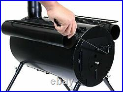 Outdoor Portable Camping Wood Stove Tent Heater Cot Camp Ice-fishing Cooking NEW