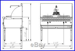 PANTIN Commercial 2 Burner 13&13 Stainless Steel Chinese Wok Range 250,000BTU