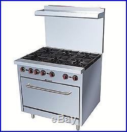 Pantin 36 Commercial 6 Burner Oven Range Kitchen Restaurant Stove ETL227,000BTU