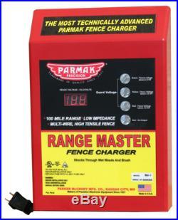 Parmak RM-1 Range Master Advanced Electric Fence Charger, 100-Mile, Digital