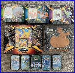 Pokemon Shining Fates Full Range Boosters Tin V Boxes Ready to Post