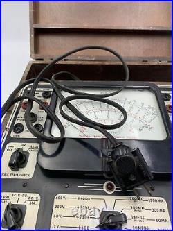 Precision EV-10 Vacuum Tube Multi Range Tester Vintage Wood Case EV10 Untested37